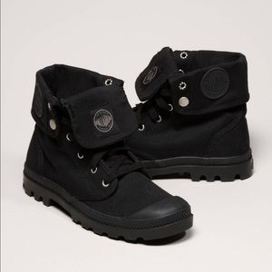 Black Palladium Canvas Boots
